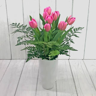 MOTHERS DAY TULIPS & VASE