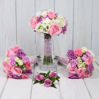 PINK SEASONAL WEDDING FLOWERS S