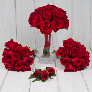 RED WEDDING ROSES