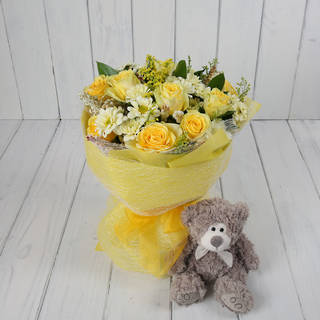 BOUQUET AND TEDDY